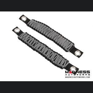 Jeep Wrangler JK Para cord A-Pillar Grab Handles - Grey