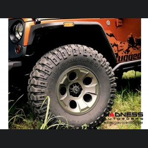 "Jeep Wrangler JK Aluminum Drakon Wheel - 18x9"" - Gun Metal Finish"