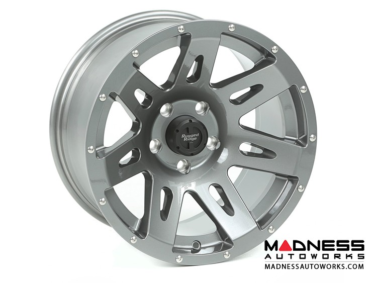 "Jeep Gladiator Aluminum XHD Wheel - 17x9"" - Gun Metal"