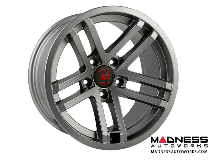 "Jeep Gladiator Jesse Spade Wheel - 17x9"" - Satin Gun Metal"