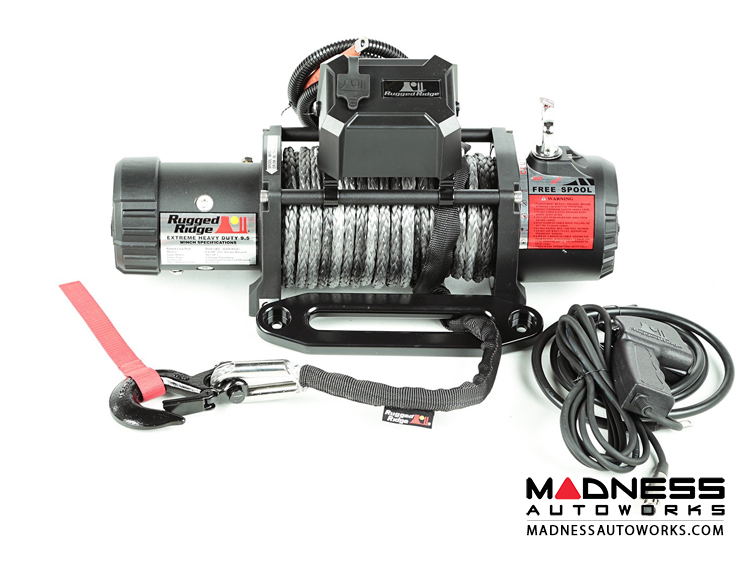 Jeep Wrangler TJ Nautic 9,500 lb. Winch w/ Synthetic Rope
