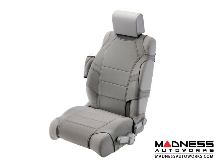 Jeep Wrangler JL Neoprene Front Seat Vests - Gray
