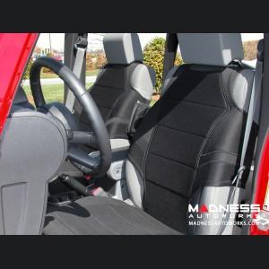 Jeep Wrangler JK Neoprene Front Seat Vests - Black