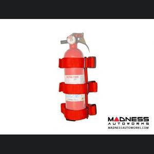 Jeep Wrangler JK Sport Bar Fire Extinguisher Holder - Red