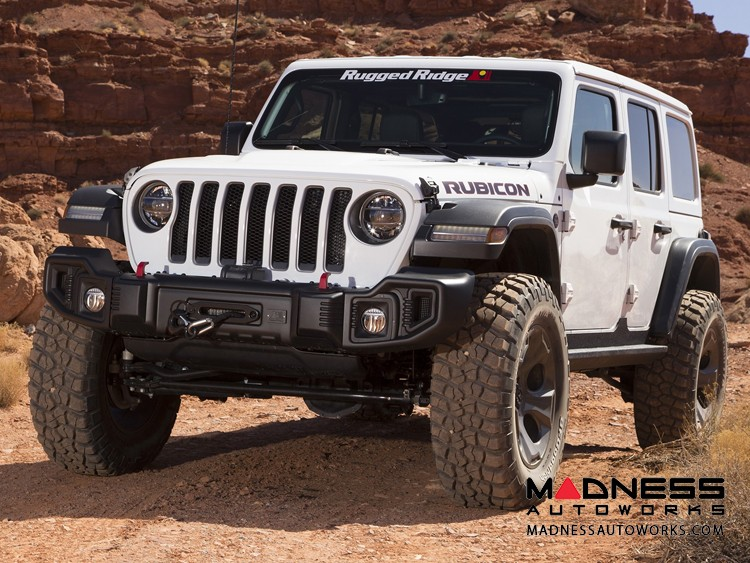 Jeep Wrangler JL Spartacus Bumper w/ Winch Plate - Front - Black