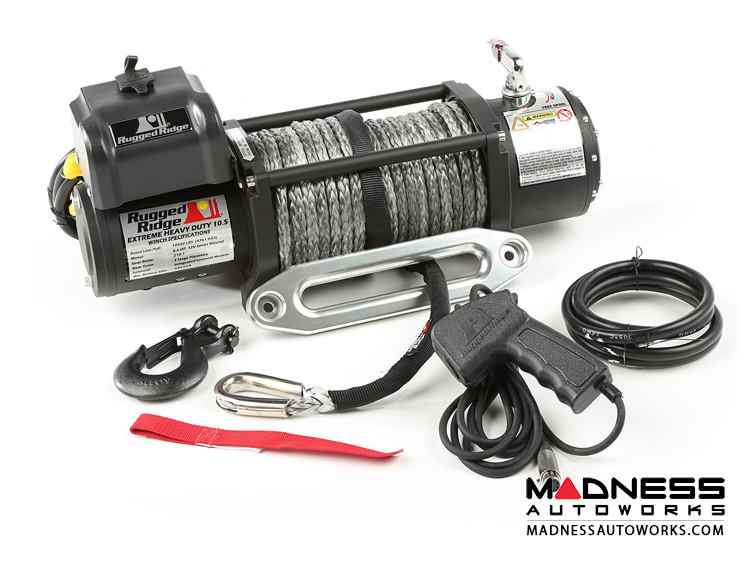 Jeep Wrangler JK Spartacus Performance 10,500 lb. Winch w/ Synthetic Rope