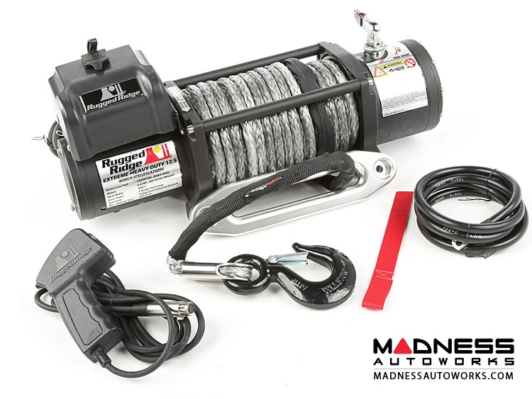 Jeep Wrangler TJ Spartacus Performance 12,500 lb. Winch w/ Synthetic Rope