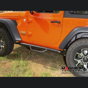 Jeep Wrangler JL Spartan Nerf Bar - Textured Black - 2 Door