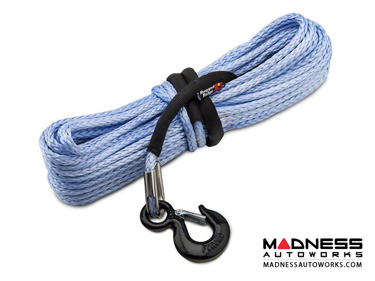 "Blue 3//8/""*100ft Synthetic Rope with Winch Fairlead,Synthetic Winch Cable Hook"