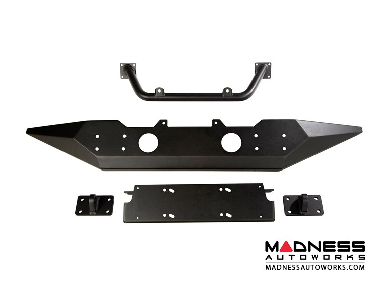 Jeep Wrangler JL Spartan Front Bumper w/ High Clearance Ends & Tube Overrider