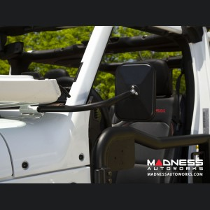 Jeep Wrangler JL Rectangular Trail Mirror Kit - Pair