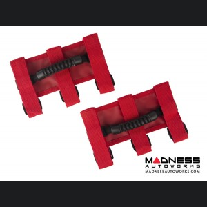 Jeep Wrangler JL Ultimate Grab Handle Kit - Red
