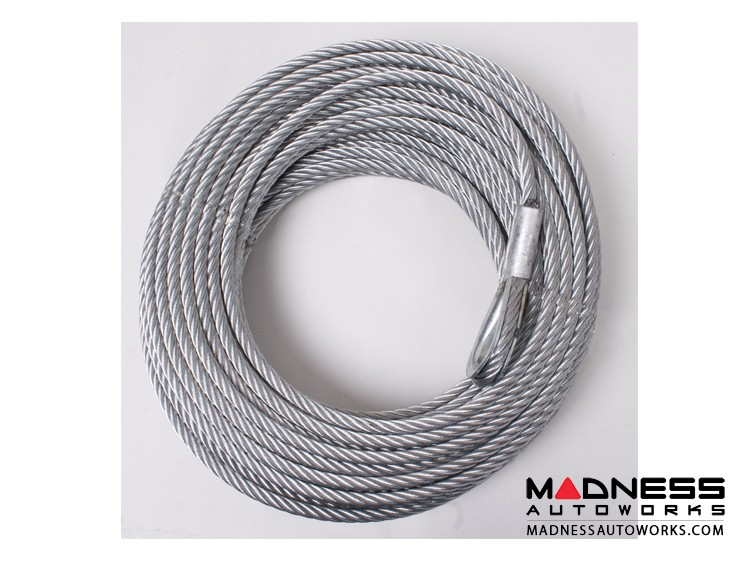 Jeep Wrangler JK Winch Replacement Steel Cable - 23/64 in. x 94 ft. - 10,500 lb
