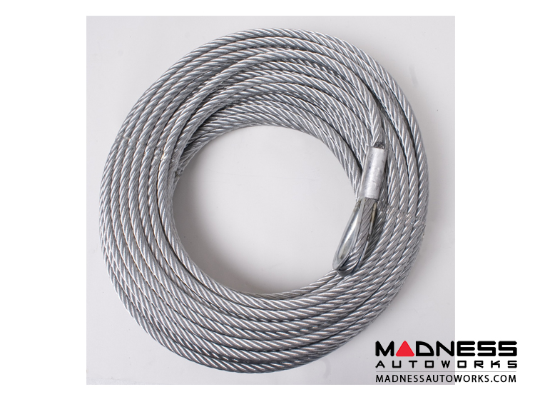 Jeep Wrangler TJ Winch Replacement Steel Cable - 23/64 in. x 94 ft. - 10,500 lb