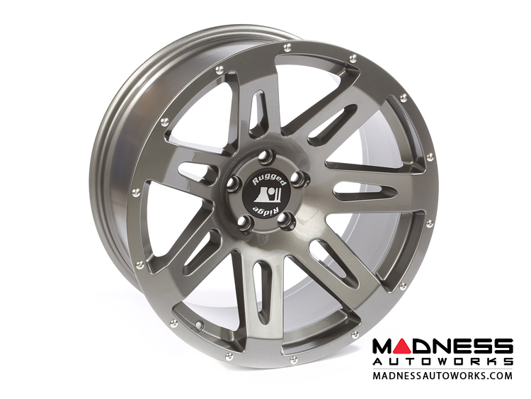 "Jeep Gladiator Aluminum XHD Wheel - 20x9"" - Gun Metal Powder Coat Finish"