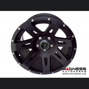 "Jeep Wrangler JK Aluminum XHD Wheel w/ Center Cap - 17x9"" - Black Satin"