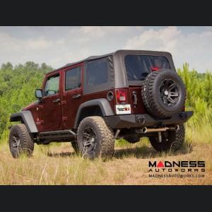 "Jeep Wrangler JL Aluminum XHD Wheel w/ Center Cap - 17x9"" - Black Satin"