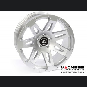 "Jeep Wrangler JK Aluminum XHD Wheel - 20x9"" - Silver Powder Coat Finish"