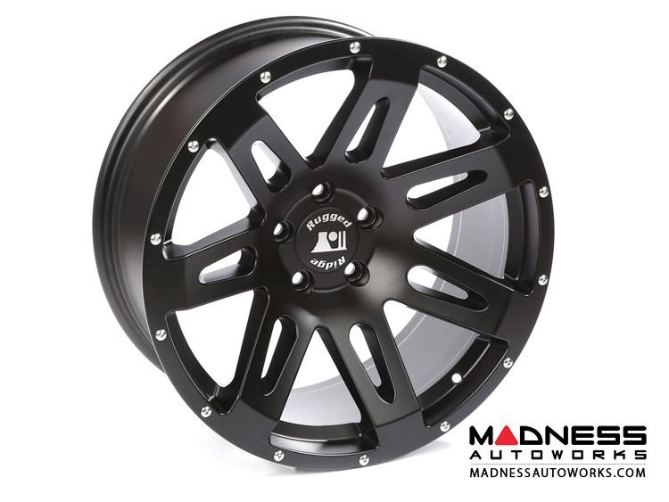 "Jeep Wrangler JK Aluminum XHD Wheel - 20x9"" - Satin Black"