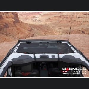 Jeep Wrangler JL Eclipse Sun Shade - Black - Front