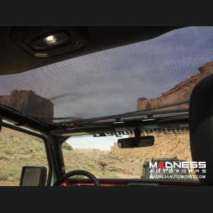 Jeep Wrangler JL Eclipse Sun Shade - Black - Front