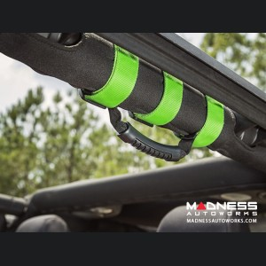 Jeep Wrangler JK Ultimate Grab Handles - Lime Green