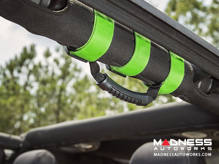 Jeep Gladiator Ultimate Grab Handles - Lime Green