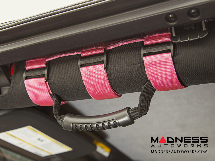 Jeep Wrangler TJ Ultimate Grab Handle Kit - Pink