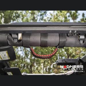 Jeep Gladiator Para Cord Grab Handles - Red on Black - Pair