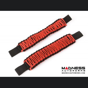 Jeep Wrangler JK Para Cord Seat Mount Grab Handle - Red