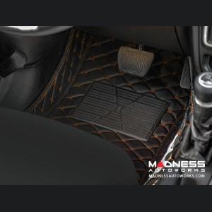 Jeep Wrangler JL Floor Liner Set - Black w/ Orange Stitching - 4 Door