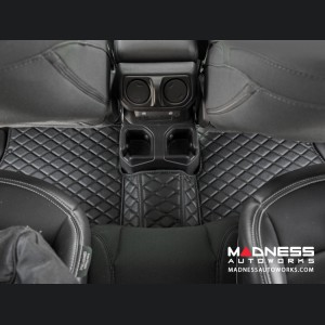 Jeep Wrangler JL Floor Liner Set - Black w/ Black Stitching - 4 Door