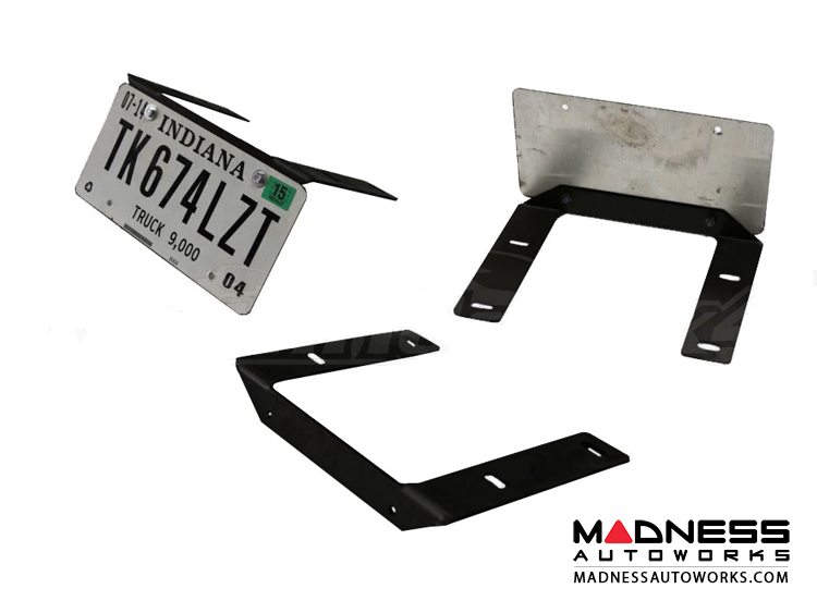 Jeep Wrangler JL Front Bumper License Plate Mount