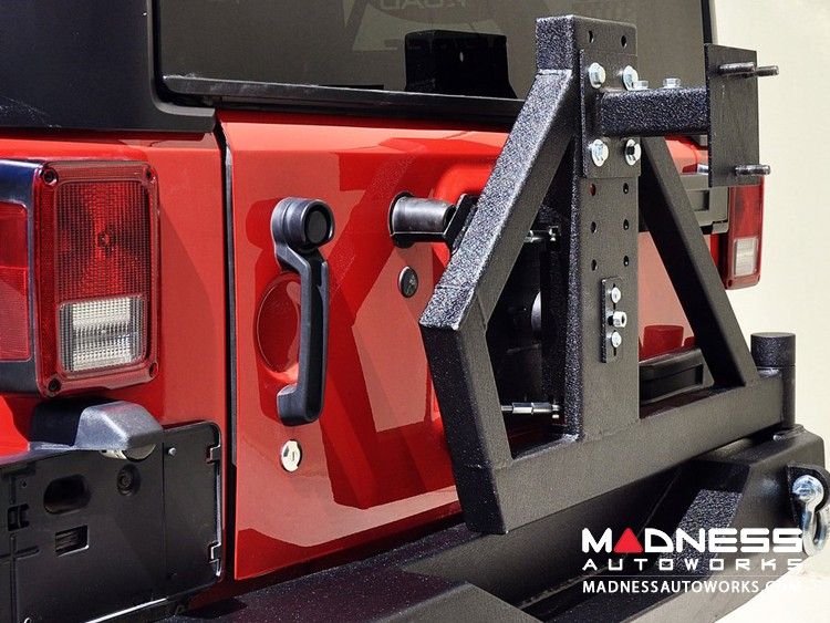 Jeep Wrangler JK Rear Bumper & Tire Carrier - Textured Black
