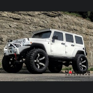 Jeep Wrangler JK Off-Road Front Bumper - Mid Width - Steel - FS-1
