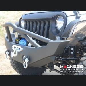 Jeep Wrangler JK Hammer Forged Front Bumper - Mid Width - Steel - FS-12