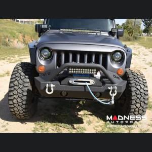 Jeep Wrangler JL Stubby Front Bumper - Mid Width - Steel - FS-15