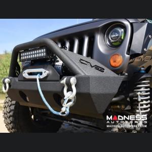 Jeep Wrangler JK Stubby Front Bumper - Mid Width - Steel - FS-15