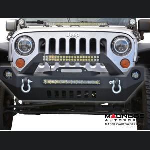 Jeep Wrangler JK Hammer Forged Front Bumper - Mid Width - Steel - FS-17