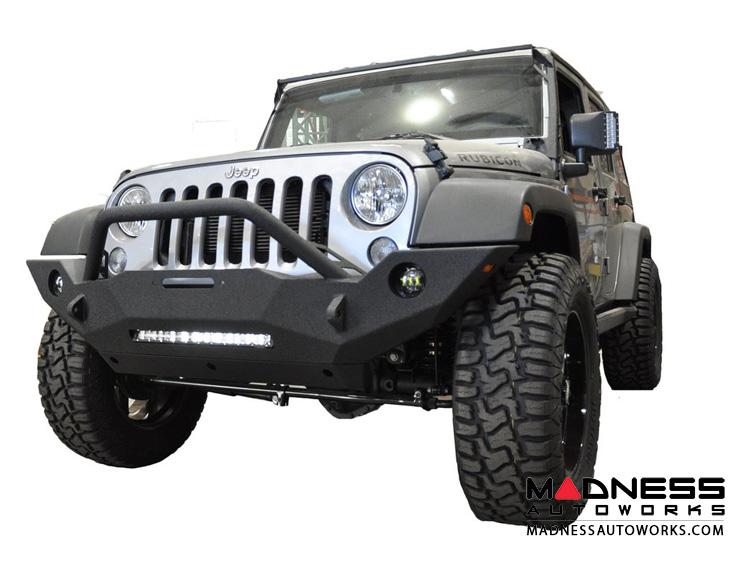 Jeep Wrangler JK Stubby Front Bumper - Mid Width - Steel - FS-18