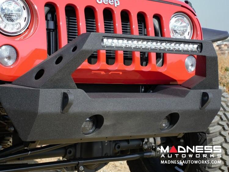 Jeep Wrangler JK FS-25 Stubby Bumper - Satin Black finish - Rear