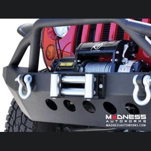 Jeep Wrangler JK Front Bumper - Mid Width - Steel - Premium Textured Black Powder Finish