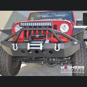 Jeep Wrangler JK Front Bumper - Mid Width - Steel - Premium Textured Black Powder Finish