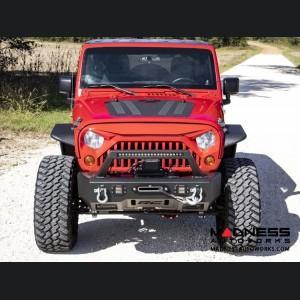 Jeep Wrangler JK Hood Louver - Powder Coated