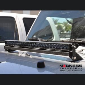 Jeep Wrangler JK Hood LED Bracket - Steele - Black