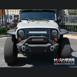 "Jeep Wrangler JK Mesh LED Grille For LED Light Bar - 20"" - Black"