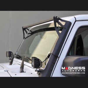Jeep Wrangler JK Over Windshield Bracket - Textured Black Finish - 50""