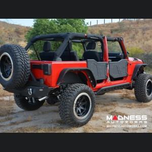 Jeep Wrangler JK Plated Rock Doors - Black Finish