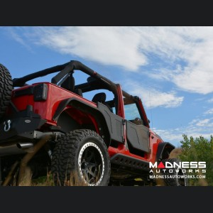 Jeep Wrangler JK Plated Rock Doors - Black Finish