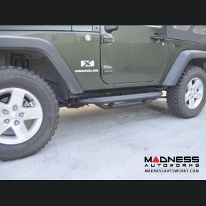 Jeep Wrangler JK Rock Slider - Textured Black Powder Coat Finish - 2 Door